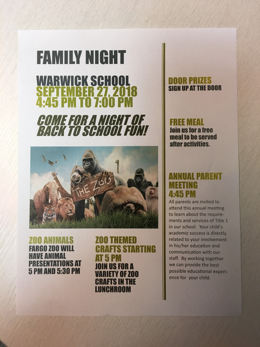 family night poster
