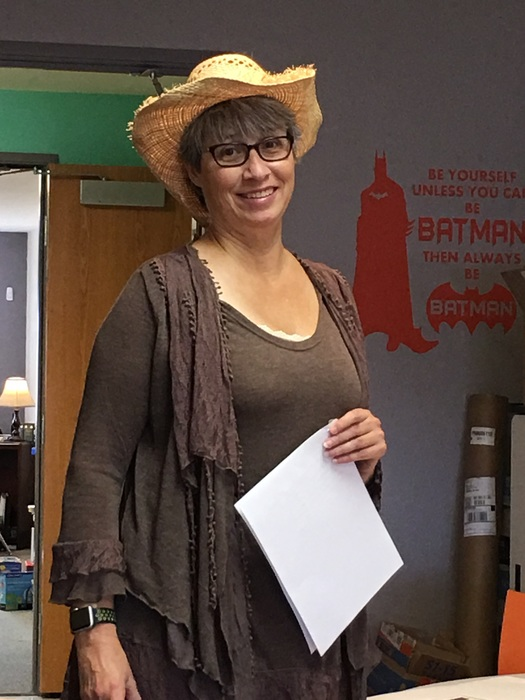 staff wear funny hats to celebrate red ribbon week