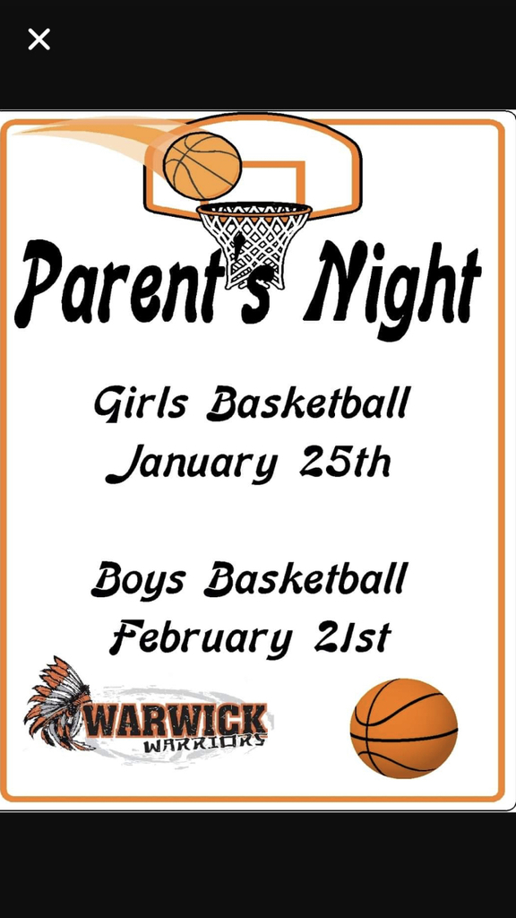 Family night this Friday. Come out and support your Lady Warriors. Last home game of the season.